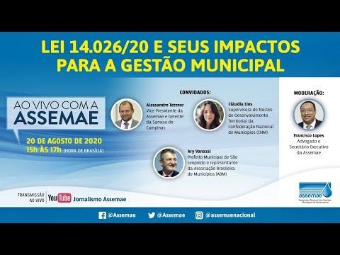 Webinar 2 - Lei 14.026/20 e seus impactos para a gestão municipal