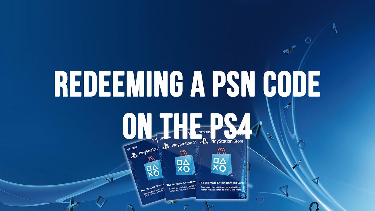 Ps4 Redeeming A Psn Code