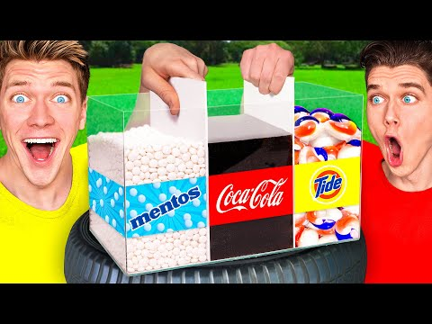 5 Next Level Viral Experiments w/ Coca Cola Mentos & Crushing Crunchy Soft Things by Car Experiment