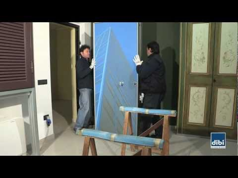 Removing the door leaf from the frame