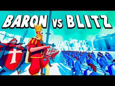 TABS Multiplayer - Baron's Cyclops King vs Blitz' Halfling Army - Totally Accurate Battle Simulator