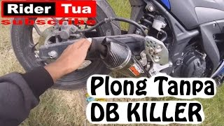plong tanpa db killer knalpot pro speed mf black yamaha r25