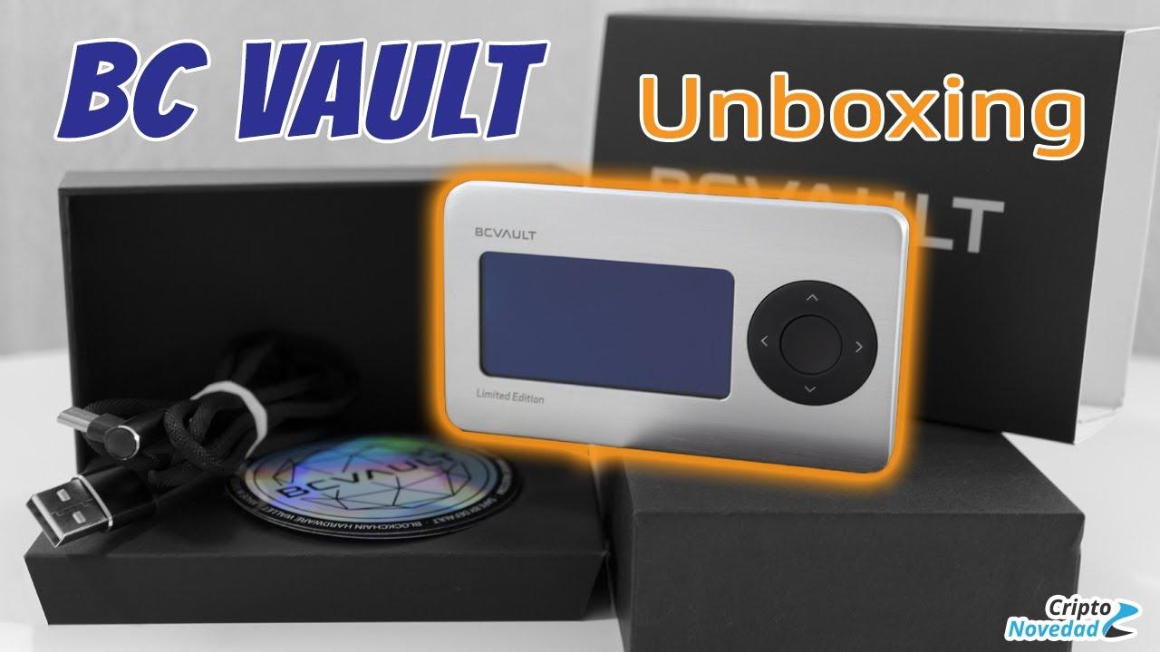 Unboxing de la BC Vault hardware wallet