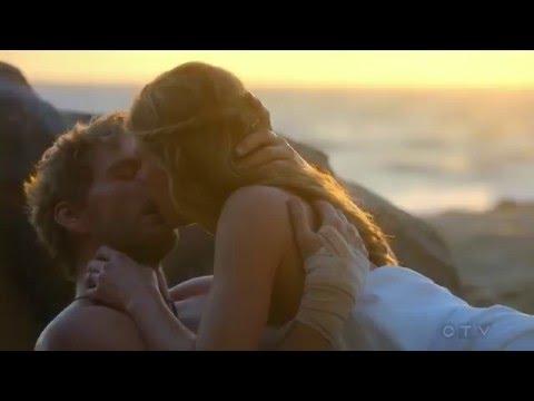 Joss & Harry s  s S03E01 Joss a runway bride, kissing Harry