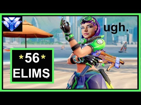 A Salty Carry in my New Sombra Skin! (56 Kills)- Ranked Lijiang