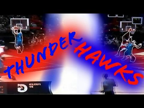 Nba 2K17 Thunder Vs Hawks Against Brother!!!