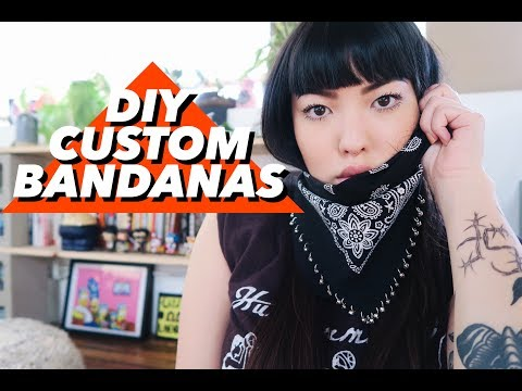 DIY Custom Bandanas | soothingsista