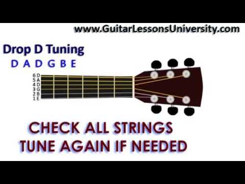 DROP D TUNING GUITAR D A D G B E