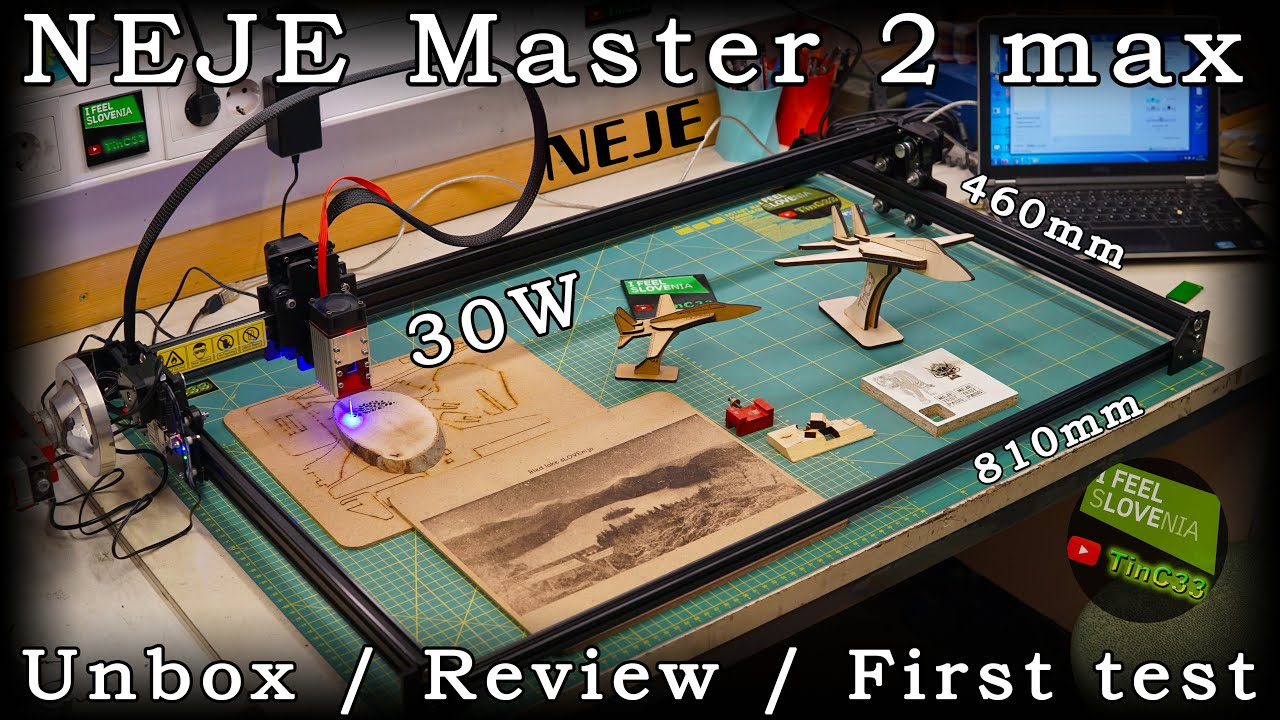 NEJE Master 2 max with 30W modul 460 x 810 mm engraver / cutter [unbox / review / first test]