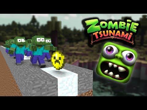 Monster School: ZOMBIE TSUNAMI CHALLENGE - Minecraft Animation