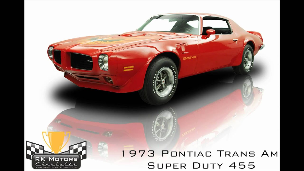 132078 1973 Pontiac Trans Am Super Duty 455 Youtube