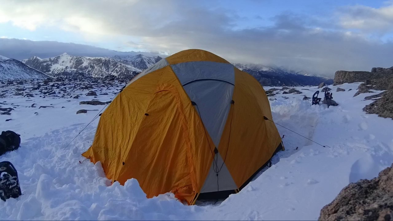 NORTH FACE BASTION 4 TENT PITCHING !!!WINTER!!!  - A Bearded Blard Timelapse & NORTH FACE BASTION 4 TENT PITCHING !!!WINTER!!!