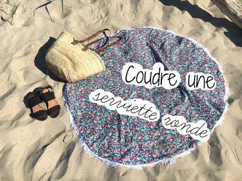 serviette ronde tuto couture