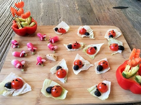 Recette enfants ap ro tomates cerises coccinelle et radis roses souris youtube - Recette legume pour enfant ...