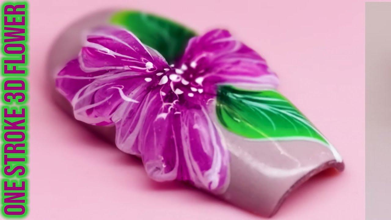 Simple One Stroke Flower with 3D Acrygel