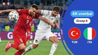 Italië opent het EK met winst op Turkije   samenvatting Turkije - Italië   EK 2021