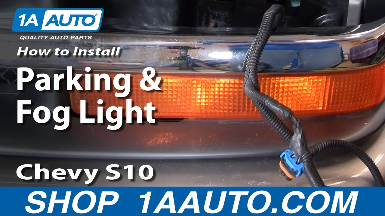 hight resolution of how to replace parking light 98 04 chevy s10 pickup