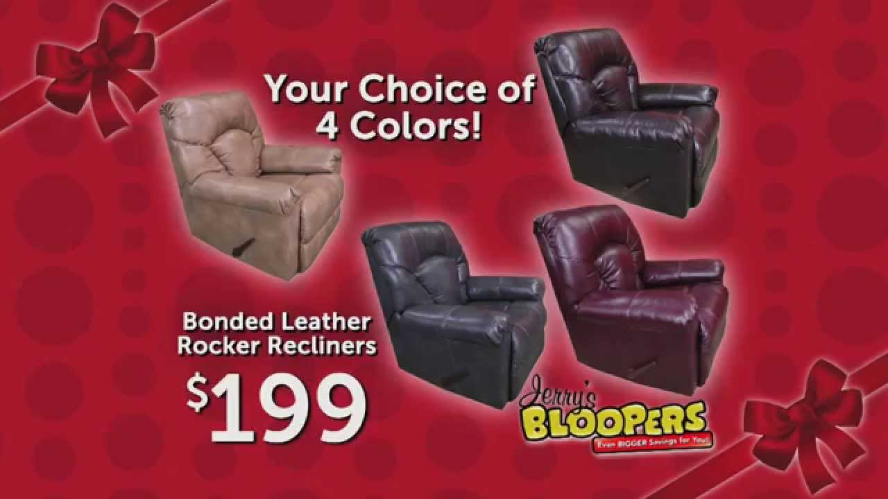 jerome's swivel chairs elite chair covers chicago jerome s furniture bloopers bonded leather rocker recliners youtube