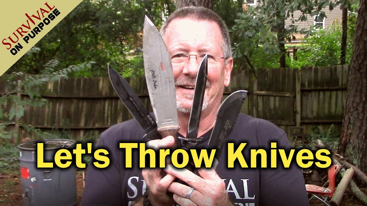 Knife Throwing For Fun Without Special Throwing Knives - One Gets Broken