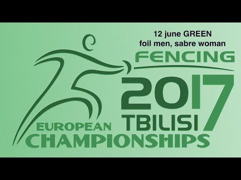 #European Champioships Tbilisi Men Foil/Woman Sabre individual GREEN piste