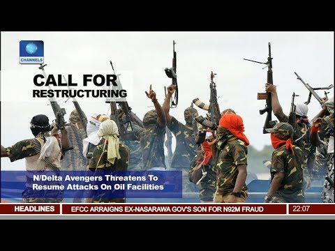 Niger Delta Avengers Threatens To Resume Attacks On Oil Facilities Pt 1 | News@10 |