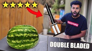 I Bought The BEST and WORST Rated WEAPONS On Amazon!! *DOUBLE BLADED KATANA!!*