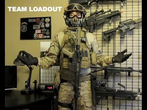 ALPHA AIRSOFT TEAM LOADOUT - YouTube
