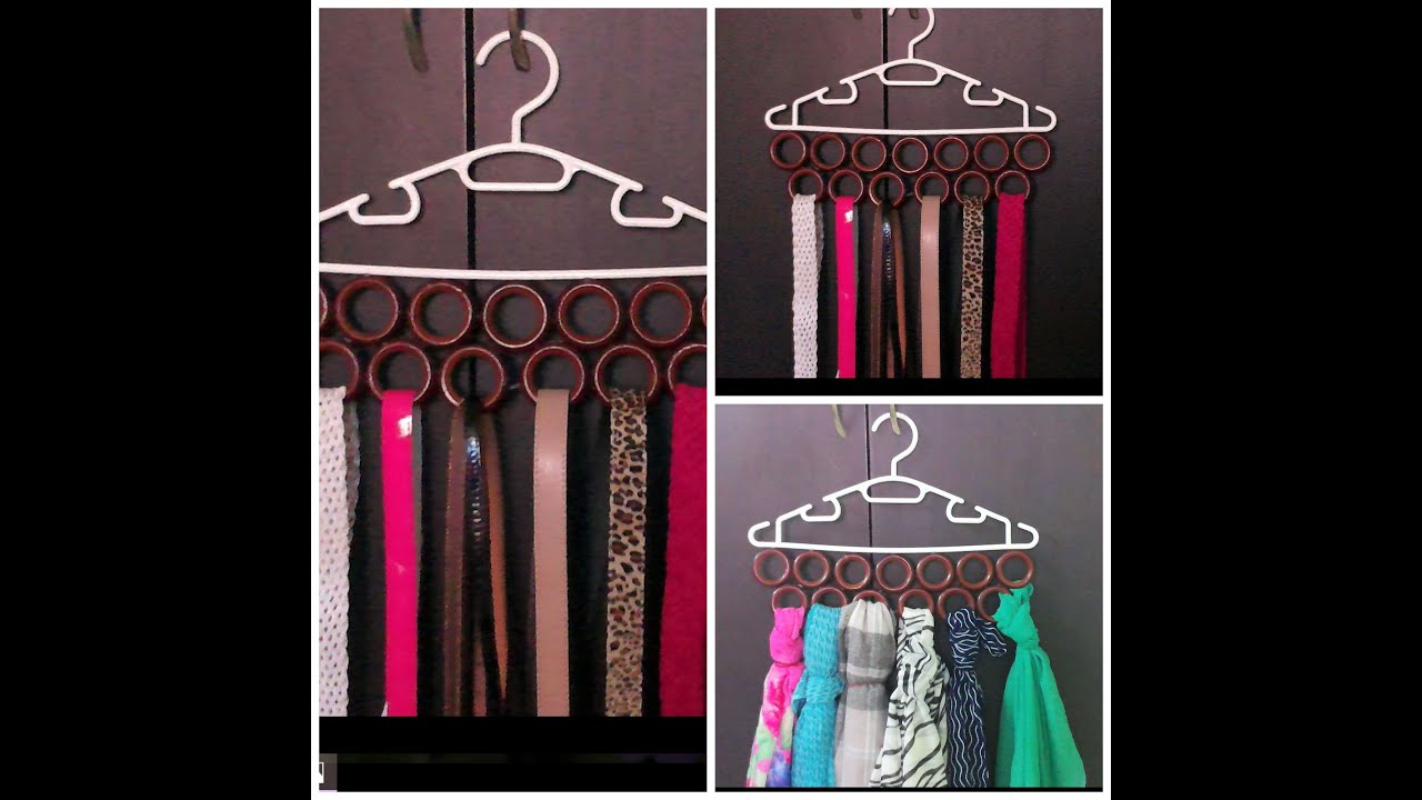 DIY   How To Make Scarf / Belt/ Tie Organizer In 2 Minutes