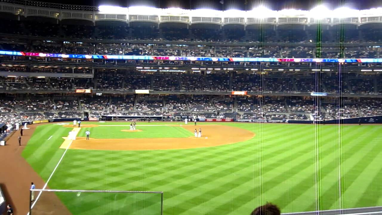 View From Section 206 Yankee Stadium