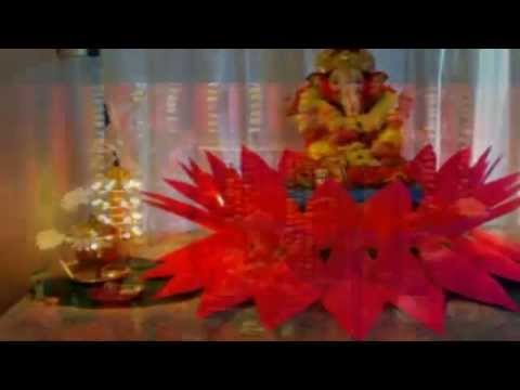Idea For Ganpati Decoration At Home Youtube