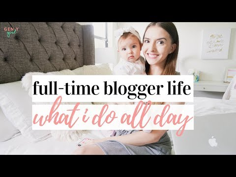 DAY IN THE LIFE OF A BLOGGER | MOM BLOGGER | Kayla Buell