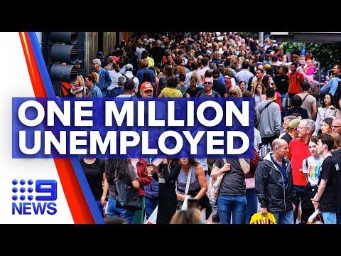 Coronavirus: One million Australians are unemployed | 9 News Australia