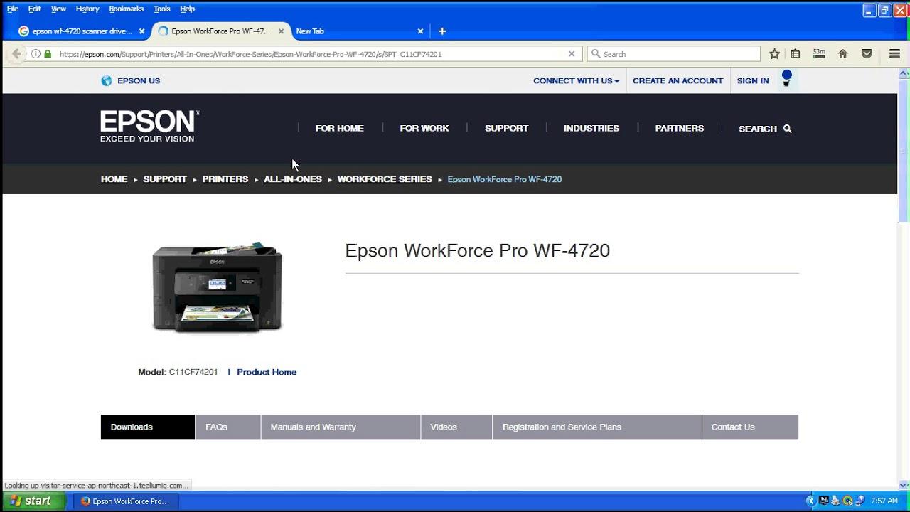 Epson WF 4720 Printer,Scanner Driver Download