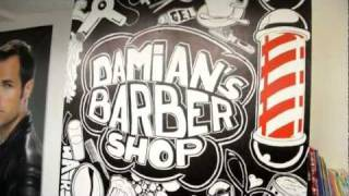 drawing at damians barbershop