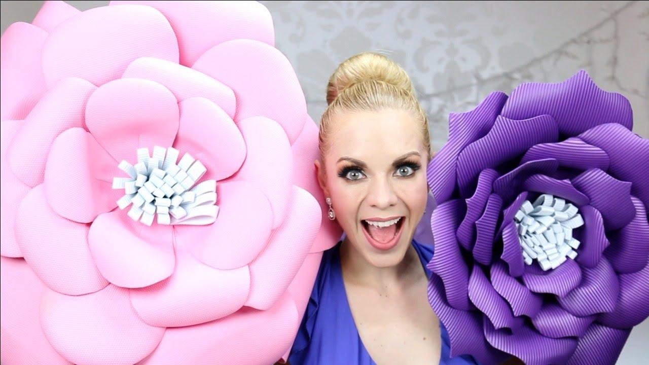 Diy c mo hacer flores de foami o goma eva youtube - Www como hacer flores com ...