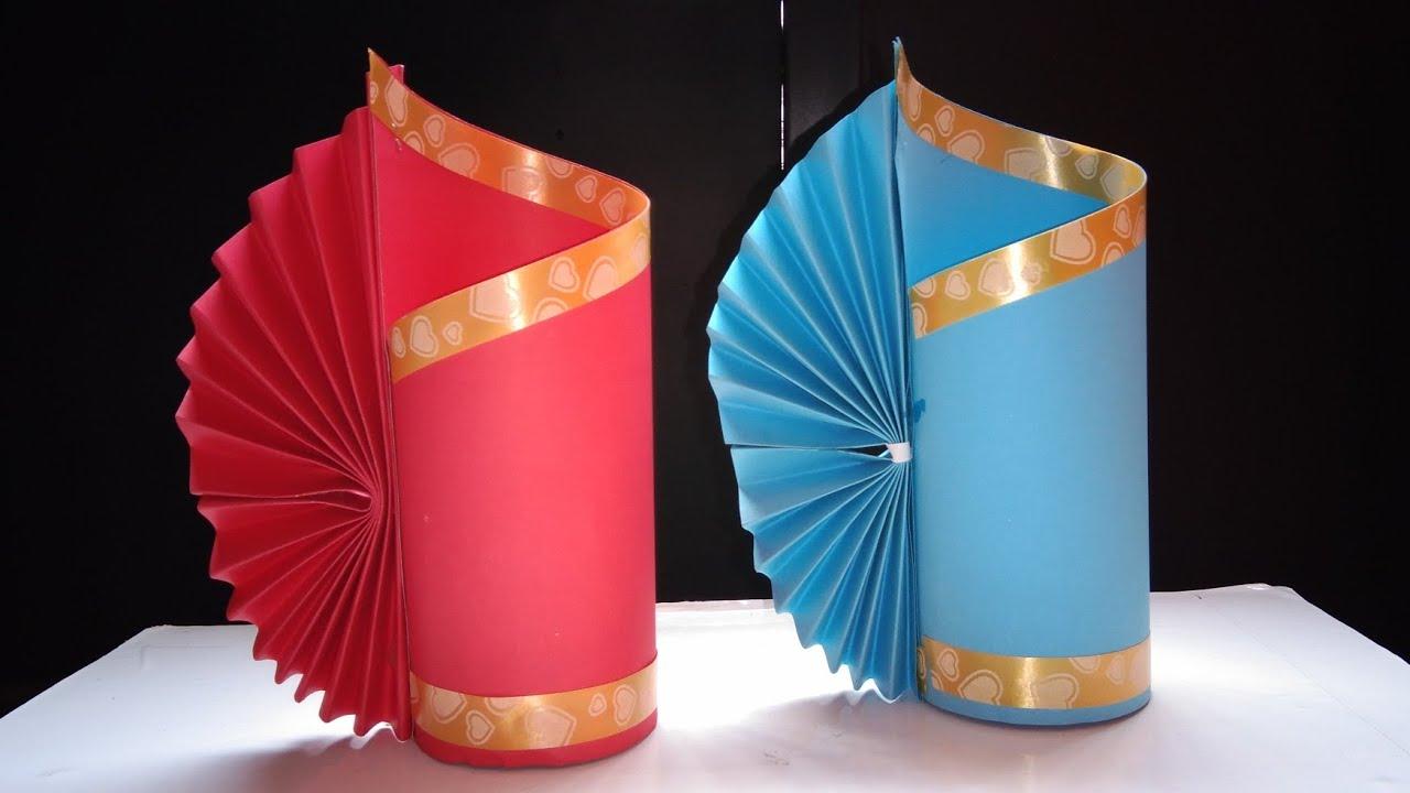 Cara Membuat Vas Bunga Membuat Vas Bunga Dari Kertas Kerajinan Sederhana Youtube
