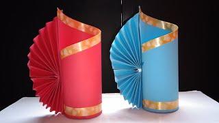 Cara Membuat Vas Bunga - Membuat Vas Bunga Dari Kertas - kerajinan sederhana