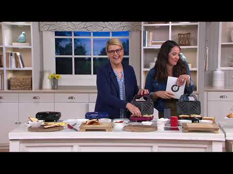 Kitchen Couture Sandwich Maker W/ Nonstick Plates On QVC