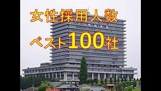 新卒女性採用人数100社 2020版  Graduate women employed persons 100 companies