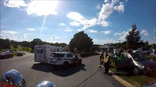Rescue 50 Ride Along to Accident with Entrapment (Screaming Q and Horn!)