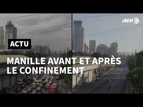 Covid-19 aux Philippines: la capitale Manille avant et après la quarantaine   AFP