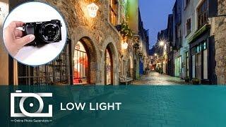 sony alpha a6000 mirrorless camera   low light settings tutorial