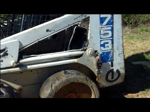 how to repack a bobcat lift cylinder with new seals on a bobcat 753 -  youtube