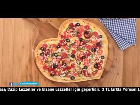 Dominos Pizza Reklamı Kalp Pizza Sevgililer Günü Reklamı