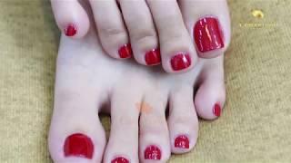 Hướng dẫn nhặt da sơn sửa móng chân