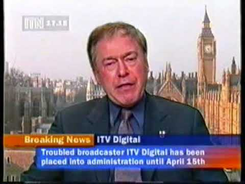 ITN News Channel coverage of ITV Digital collapse