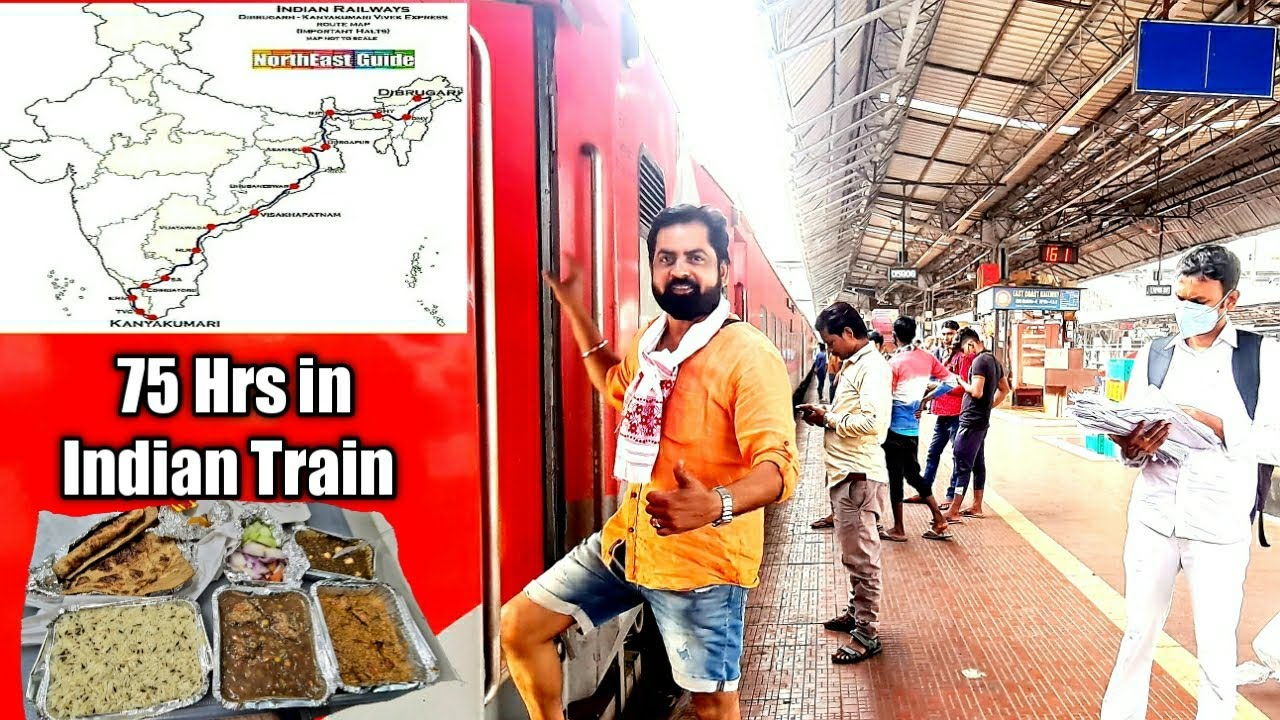 4 Nights & 3Days in VIVEK EXPRESS  * India's Longest Train Journey*    travel with rishi
