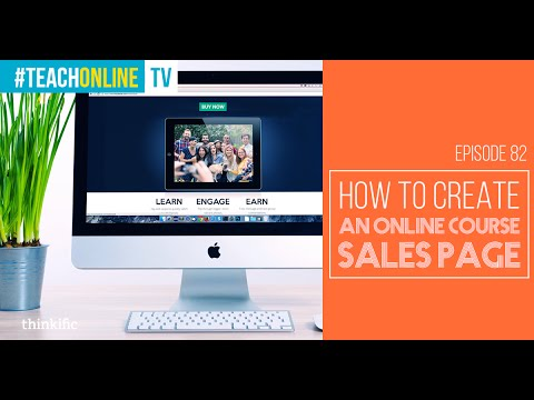 How To Create An Online Course Sales Page