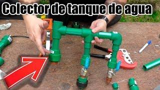 Plomeria. Como hacer un colector de tanque de agua (Tinaco).