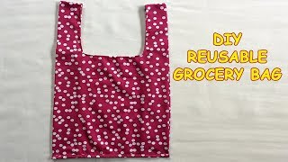 #DIY REUSABLE GROCERY BAG | Tutorial